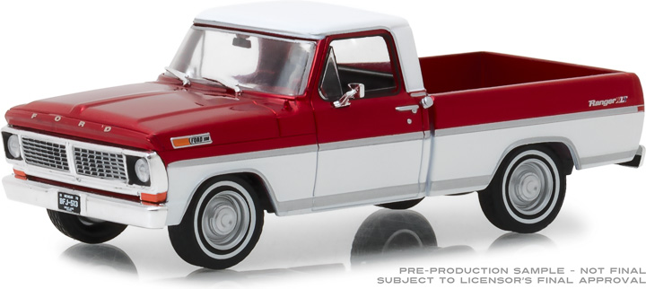 86318 - 1:43 1970 Ford F-100 - Candy Apple Red and Wimbledon White