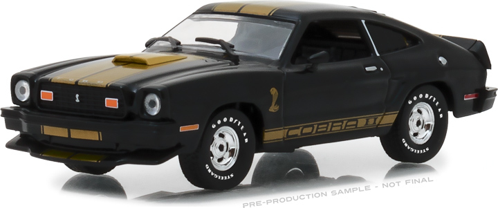 1:43 1977 Ford Mustang Cobra II - Black w/Gold Stripes