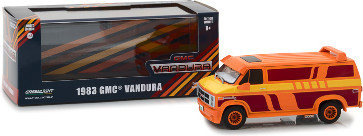 1:43 1983 GMC Vandura Custom - Orange with Custom Graphics