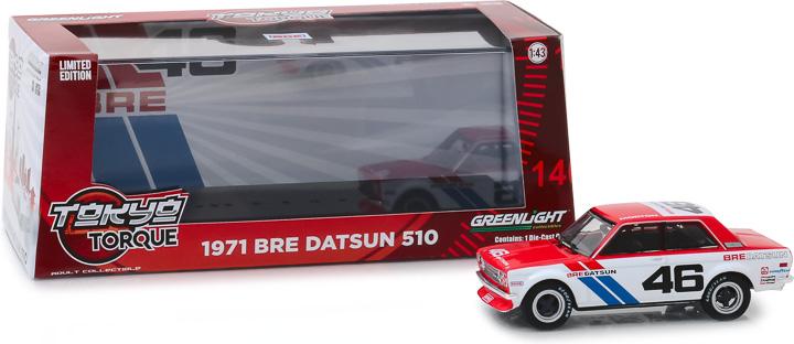 86335 - 1:43 Tokyo Torque - 1971 Datsun 510 - #46 Brock Racing Enterprises (BRE) - John Morton