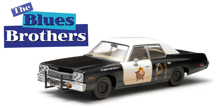 Blues Brothers 1:43 Dodge Monaco Bluesmobile