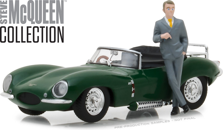 86434 - 1:43 Hollywood - Steve McQueen Collection (1930-80) - 1956 Jaguar XKSS with Steve McQueen Figure