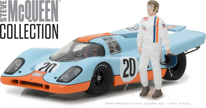 86435 - 1:43 Steve McQueen Collection (1930-80) - 1970 Porsche 917K Gulf Oil with Steve McQueen Figure