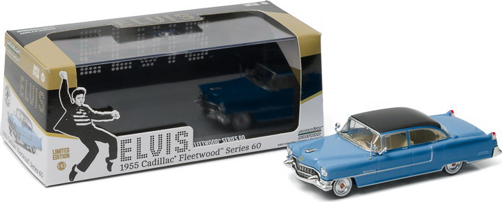 86493 - 1:43 Hollywood - Elvis Presley (1935-77) - 1955 Cadillac Fleetwood Series 60 Blue Cadillac