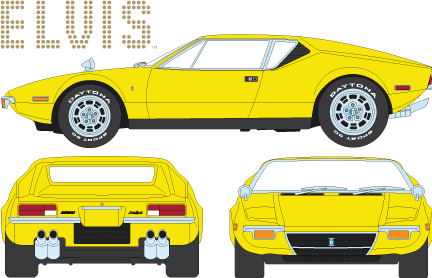 86502 - 1:43 Hollywood - Elvis Presley (1935-77) - 1971 De Tomaso Pantera