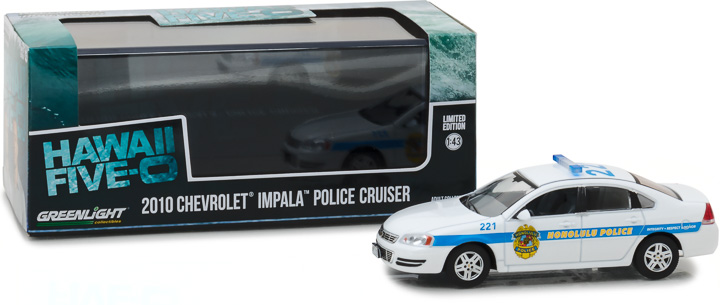 86518 - 1:43 Hawaii Five-0 (2010-Current TV Series) - 2010 Chevrolet Impala - Honolulu Polic
