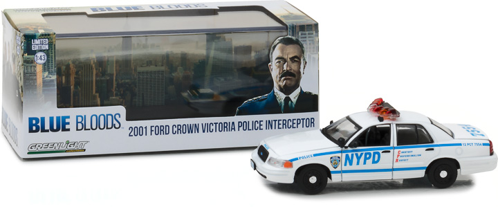 86519 - 1:43 Blue Bloods (2010-Current TV Series) - 2001 Ford Crown Victoria Police Interceptor New York City Police Dept (NYPD)