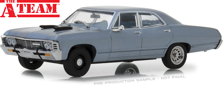 86527 - 1:43 The A-Team (1983-87 TV Series) - 1967 Chevrolet Impala Sedan