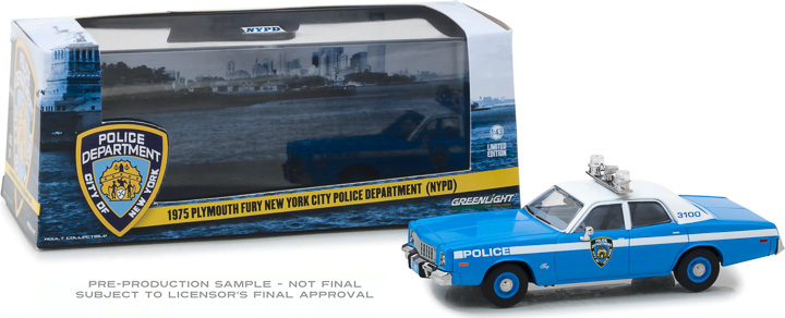86535 - 1:43 1975 Plymouth Fury New York City Police Department (NYPD)