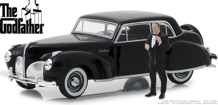 1:43 The Godfather (1972) - 1941 Lincoln Continental with Don Corleone Figure