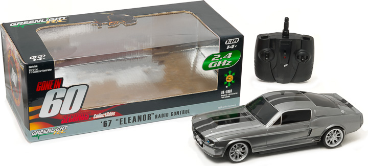 "1:18 1967 Ford Mustang ""Eleanor"" - 2.4 GHz Remote Control"