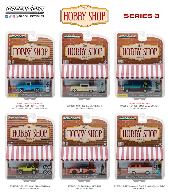97030 - 1:64 The Hobby Shop Series 3